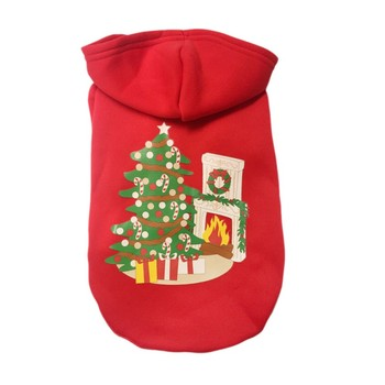Christmas Classic Warm Dog Clothes Puppy Pet Cat Hoodies Jacket Coat Winter Soft Sweater Clothing For Small Dogs Chihuahua Z