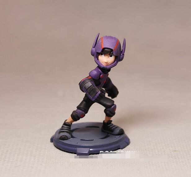 1pcs Amine Big Hero 6 Baymax Hiro Hamada Action Figure PVC Model Toy Decorative Doll for Kids In Stock