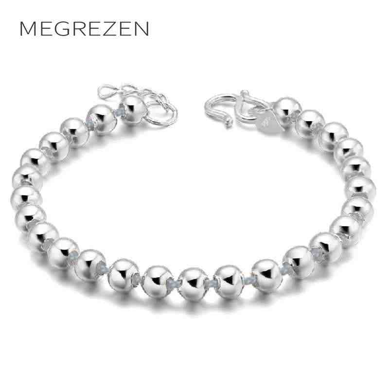 Bohemia Vintage Beaded Bracelets & Bangles Fashion Jewelry Tibetan Silver Bead Adjustable Bracelet For Women D24-5