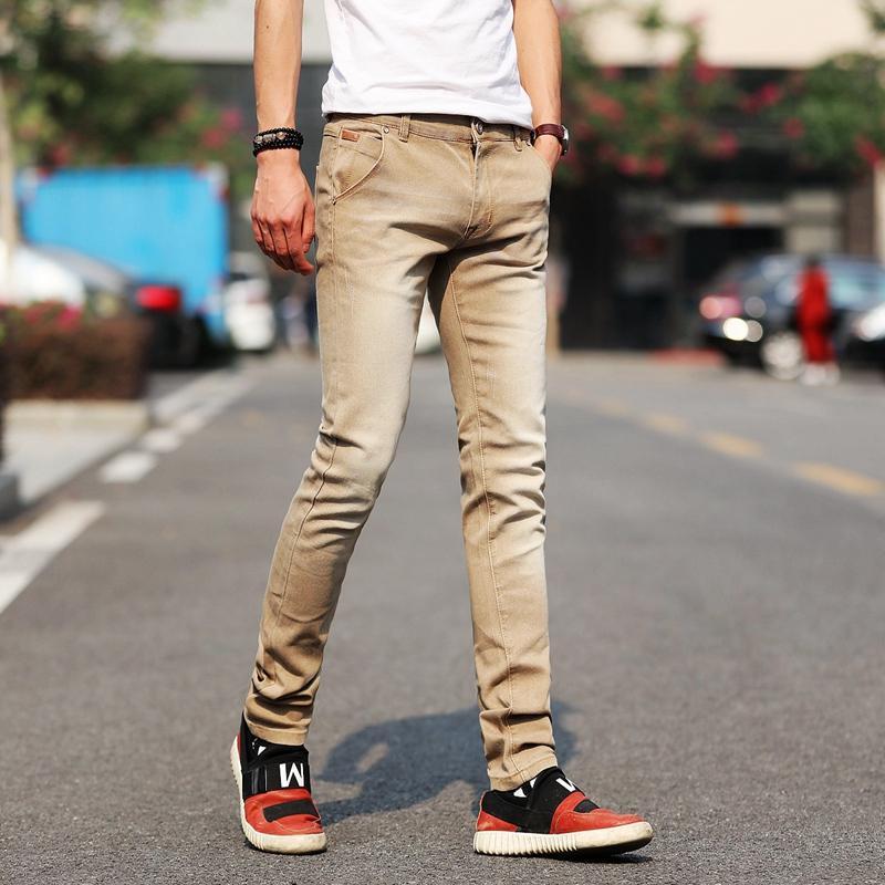 ICPANS Black Jeans Men Skinny Stretch Fashion Solid Denim ...