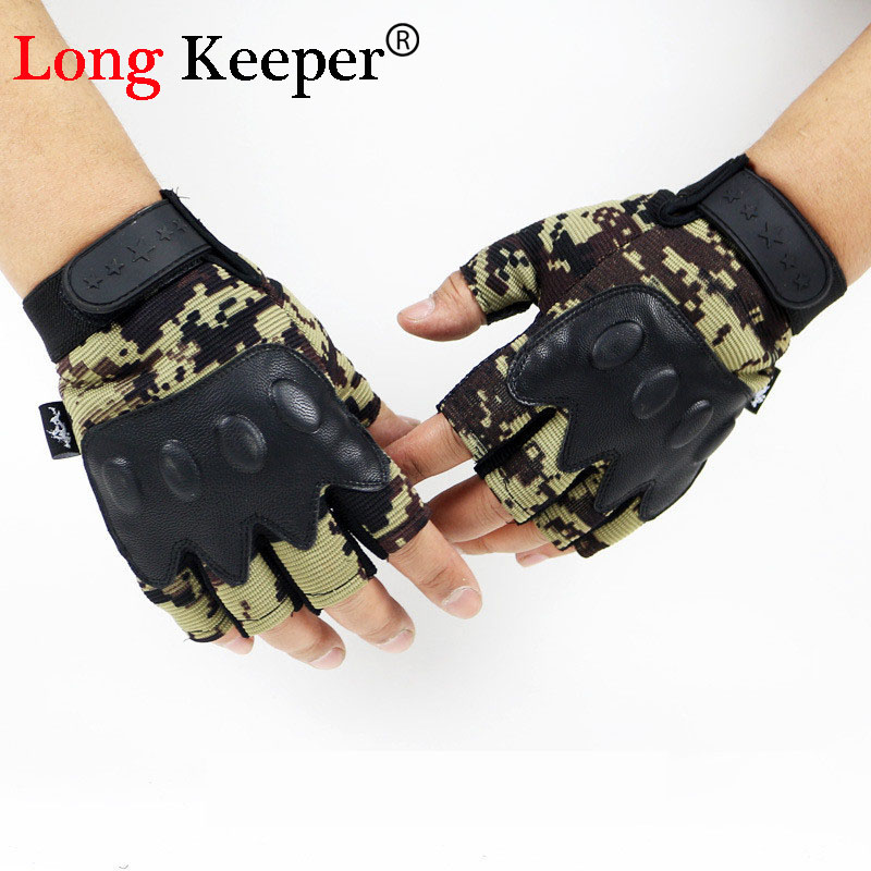 Gloves With Fingertips Out: Long Keeper Semi Finger Brand Designer Gloves Military