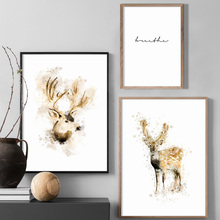 Woodland Animal Deer Quotes Wall Art Print Canvas Painting Nordic Posters And Prints Pictures For Living Room Decor