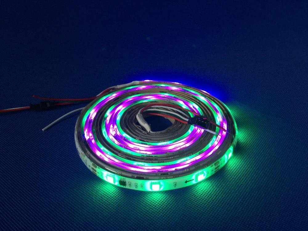 Təqdimat !! 5M WS2811 60 / leds5050 RGB Tam Rəngli LED Elastik Zol - LED işıqlandırma - Fotoqrafiya 4