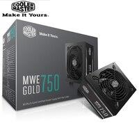 Cooler Master PC NETZTEIL Computer Power Versorgung Bewertet 750 W 750 Watt 12 cm Lüfter 12 V ATX PC Power versorgung GOLD 80 PLUS Für Spiel Büro|PC-Netzteile|   -