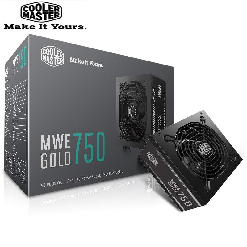 Refroidisseur Master PC PSU ordinateur alimentation évaluée 750 W 750 Watt 12 cm ventilateur 12 V ATX PC alimentation or 80 PLUS pour bureau de jeu