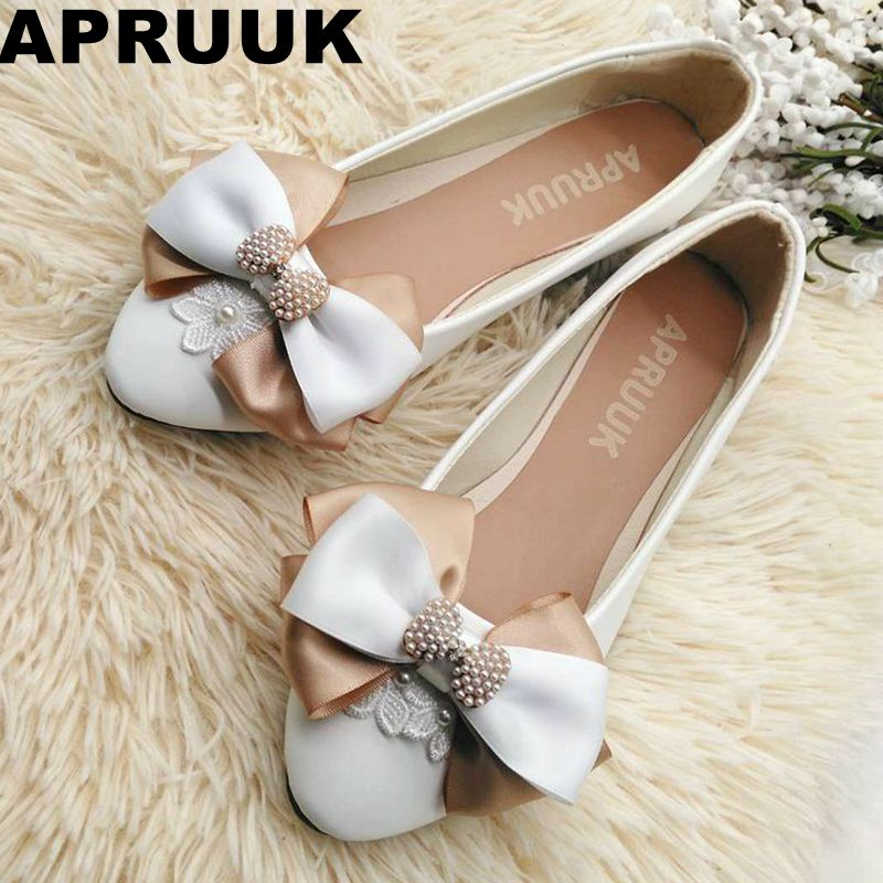 2018 spring autumn new flats women shoes champagne bow butterfly plus size round toe casual flats party shoes woman new 2017 spring summer women shoes pointed toe high quality brand fashion womens flats ladies plus size 41 sweet flock t179