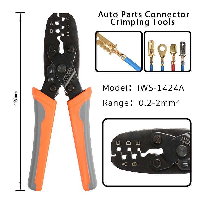 IWS-1424A/IWS-1424B Automotive Terminal Crimper Plier Crimper Tool For Delphi Packard Weather Pack Terminal Metri-Pack Connector