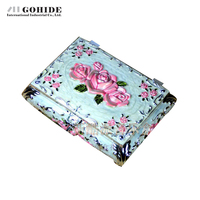 Luxury Gift Box Enamel Alloy Wound Up Jewelry Box Music Box Music Box Birthday Gift With