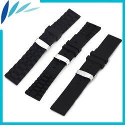 Силиконовый резиновый ремешок для часов 20 мм 22 мм 23 мм 24 мм для Orient скрытая застежка на запястье петля ремень браслет черный + пружинный бар +