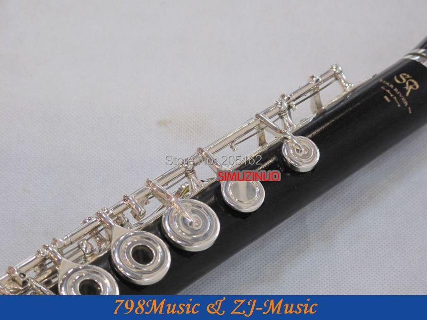 Ebenholz Grenadilla Flöte-B Fuß-Open Hole-Split-E-Inline-G-Europa - Musikinstrumente - Foto 5