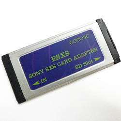 SD إلى كاميرا الفيديو SXS برو قارئ بطاقات Expresscard داعم محول 128 جيجابايت سدك سدكسك بطاقة
