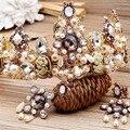 beauty queen crown bride Baroque tiara quinceanera Princess crown Wedding headdress European hair accessories