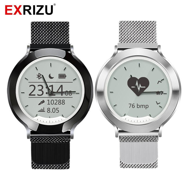 EXRIZU M6 Magnetic Steel Strap Smart Watch Physical Hands Sport Heart Rate Monitor Fitness Stopwatch Waterproof
