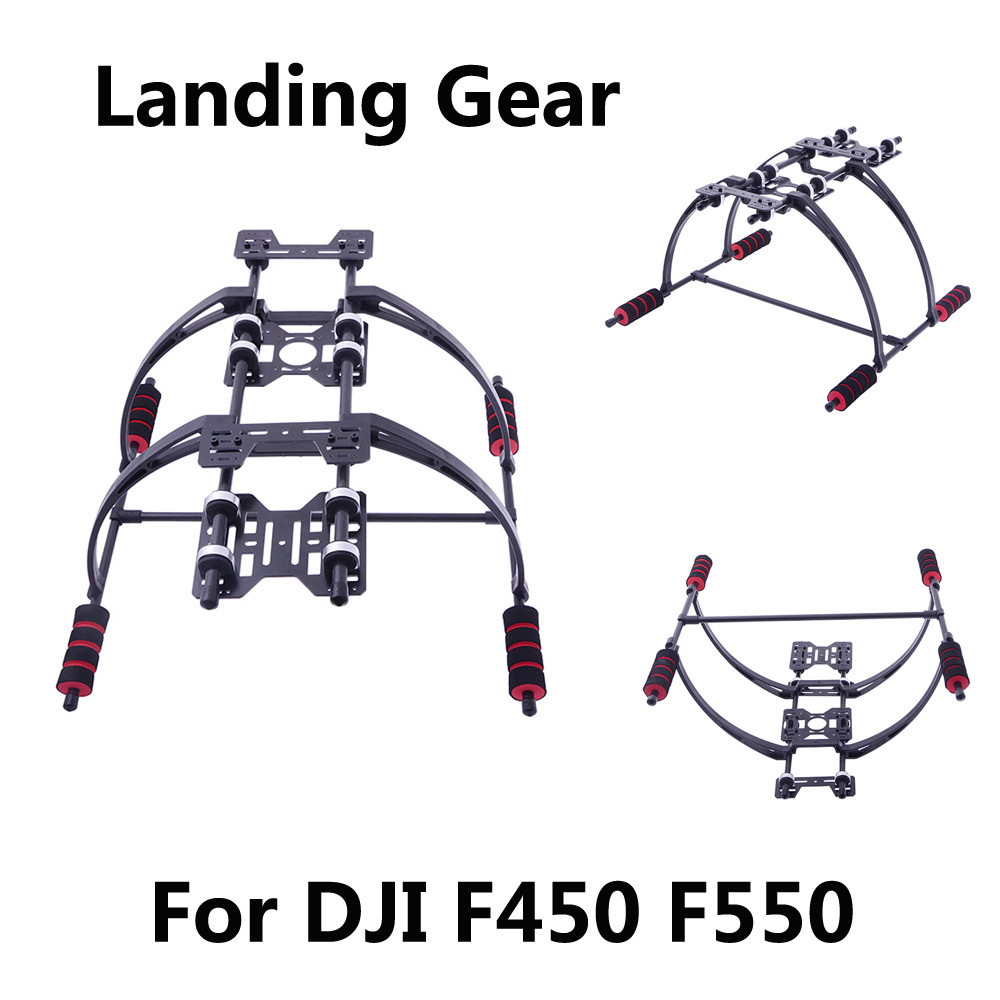Highten Landing Gear Kit with Anti-vibration Cushion for DJ I F450 F550 Multicopter FPV Landing Gear RC Drone Quadcopter Parts zndiy bry rc 02 glass fiber landing skid gear for dji f450 f550 x600 sk450 red