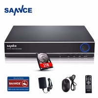 SANNCE CCTV DVR 1TB 4ch AHD DVR NVR 4ch Digital Video Recorder For CCTV 1080P HDMI