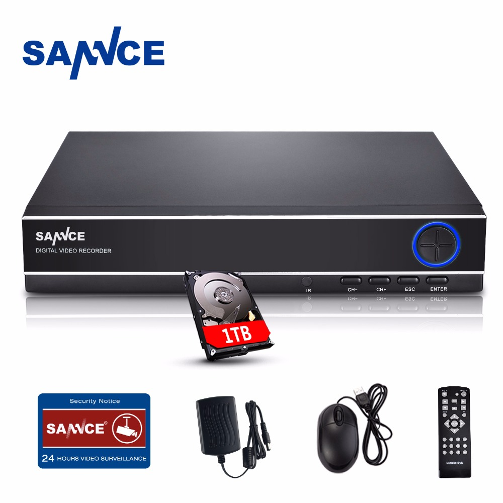 SANNCE CCTV DVR 1TB 4ch AHD DVR NVR 4ch Digital Video Recorder for CCTV 1080P HDMI Video Output Support Analog AHD IP Camera hiseeu 8ch 960p dvr video recorder for ahd camera analog camera ip camera p2p nvr cctv system dvr h 264 vga hdmi dropshipping 43