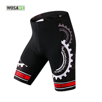 WOSAWE Cycling Shorts Summer Mens Bicycle/Bike Shorts Black,4D Gel Pad Underwear Air Tight Shorts Pants MTB Clothing Downhill 30