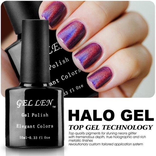 Gel Len Halo Gel Polish High Quality Nails Art Glitter Bling LED Soak Off Long-lasting Gel Varnish Polish 20 Elegant Colors