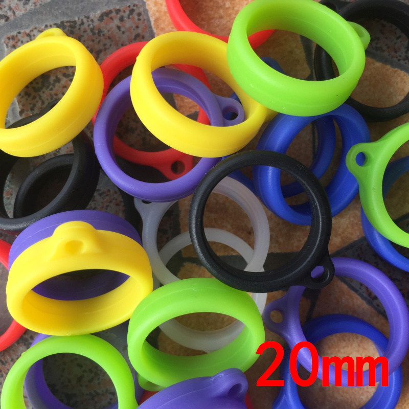 500PCS 20mm 35mm Vape Atomizer Silicone Lanyard Vape Ring For Pod Box Mod Vapor JUUI Relx