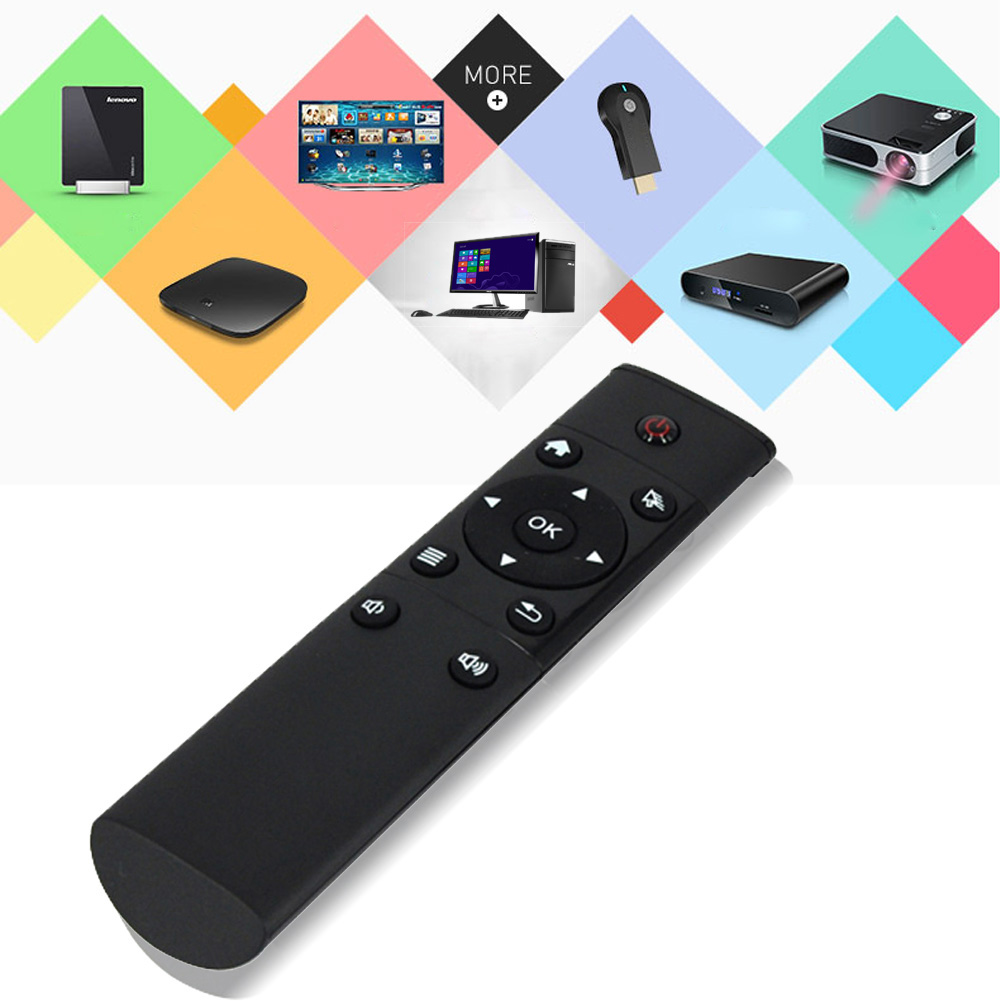 2.4GHz Smart Remote Control 12 Keys FM4 Wireless Keyboard Replacement Black Remote Control For Android KODI TV/PC/Projector french keyboard keys letters sticker black