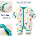 newborn baby winter thicken cotton filling christmas romper infant boy girl unisex clothes long sleeve rompers next baby onesie