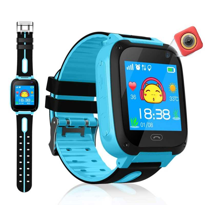 GPS Tracker Kids Camera Smart Watch Mirco SIM Calls Anti-Lost LBS SOS Location Alarm for iPhone iOS Android