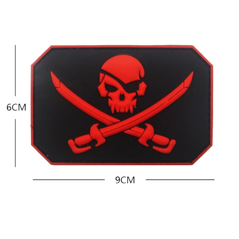 Crânio do pirata pvc braçadeira militar tático polícia especial moral emblema jaqueta mochila jeans esportes ao ar livre decoração remendo 5