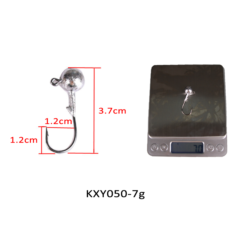 Image 3 - KASSYAA 20 50pcs Jig Head Hook 1g 2g 3.5g 5g 7g 10g 14g 20g Soft Worm Lead Fishing Hooks Jig Lure Fishing Tackle KXY050-in Fishhooks from Sports & Entertainment