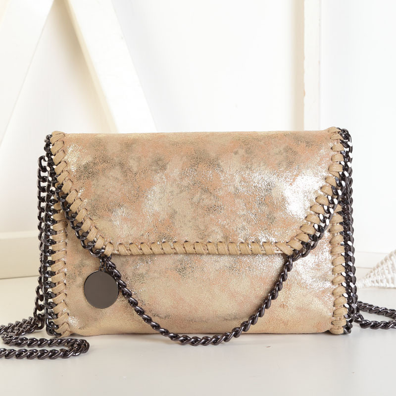 475b4f6157 Fashion Womens stella design Chain Detail Cross Body Bag Ladies Shoulder  bag clutch bag bolsa franja luxury evening bags-in Shoulder Bags from  Luggage ...