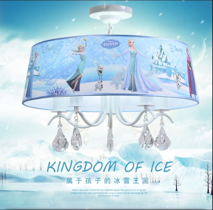 Frozen cartoon princess girl room LED room ceiling lamp warm bedroom childrens room chandelierFrozen cartoon princess girl room LED room ceiling lamp warm bedroom childrens room chandelier