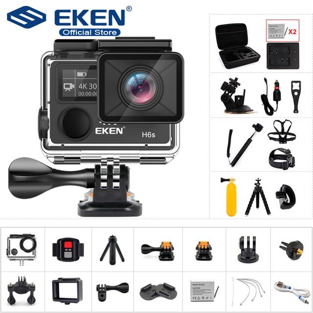 Original EKEN A12 H6S Ultra HD Ação Câmera com Ambarella chip 4 k/30fps 1080 p/60fps EIS 30 M à prova d' água Câmera esporte
