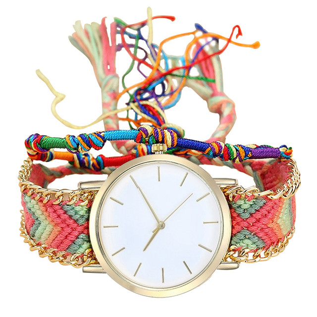 Vansvar Women Bracelet Watch 2018 Fashion Casual Clock Handmade Ladies Vintage Q