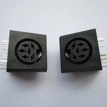 10 шт. круговой DIN Jack Женский S терминал 6 контактный разъем печатной платы