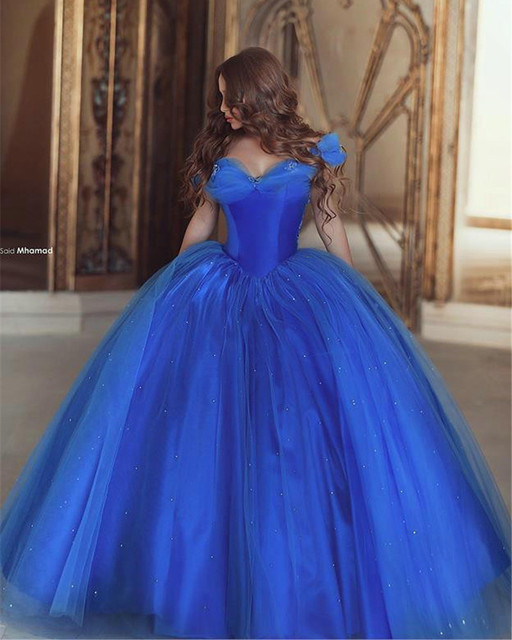 elegant royal blue wedding gowns cap sleeves ball gown wedding dress with pearls princess bridal. Black Bedroom Furniture Sets. Home Design Ideas
