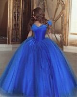 Elegant Royal Blue Wedding Gowns Cap Sleeves Ball Gown Wedding Dress With Pearls Princess Bridal Dresses