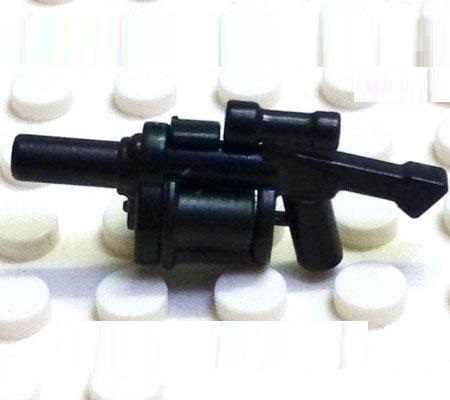 5PCS Bloco Do Brinquedo Lançador de Granadas Armas Original Swat Polícia Militar Armas Acessórios Cidade Compatível Mini Figuras