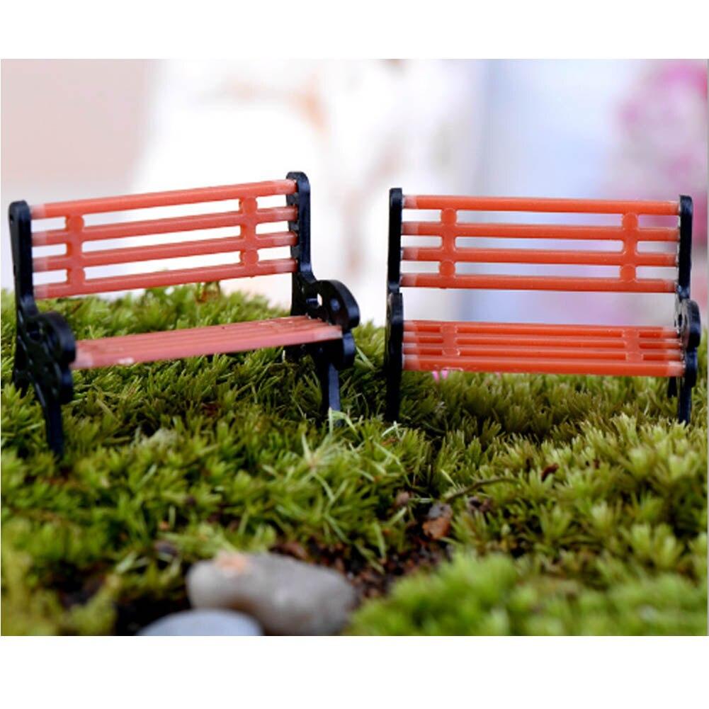 1 Pcs Micro World Bonsai Garden Small Ornament Landscape Decoration The Park Sits Chair Seat Doll