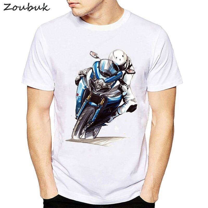 f59d2b54 Moto Tete De Mort 3D Printed Mens T Shirts Fashion 2018 Summer Cool hipster Tshirt  Motorcycle