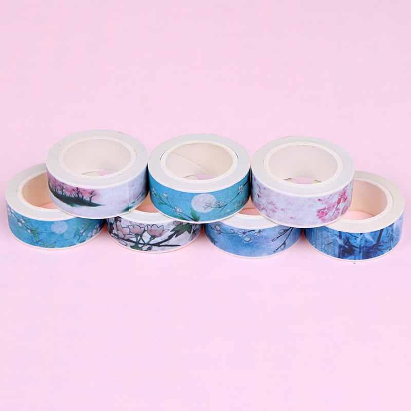 15 Mm * 7M Retro Gaya Cina Rasa Dekoratif Washi Tape Diy Scrapbooking Masking Tape Sekolah Kantor Pasokan