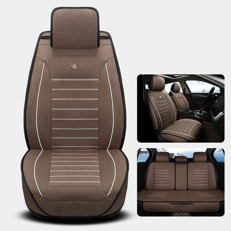 Linen summer Car Seat Cover for Lifan x60 x50 320 330 520 620 630 720 BLACK/BEIGE/COFFEE/PURPLE Interior Accessories car stylingLinen summer Car Seat Cover for Lifan x60 x50 320 330 520 620 630 720 BLACK/BEIGE/COFFEE/PURPLE Interior Accessories car styling