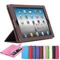 Para apple ipad 2/3/4 oficial plegable folio elegante soporte de la pu cubierta de cuero para ipad 4 con pantalla retina ipad 3 bolsa bolsa caso
