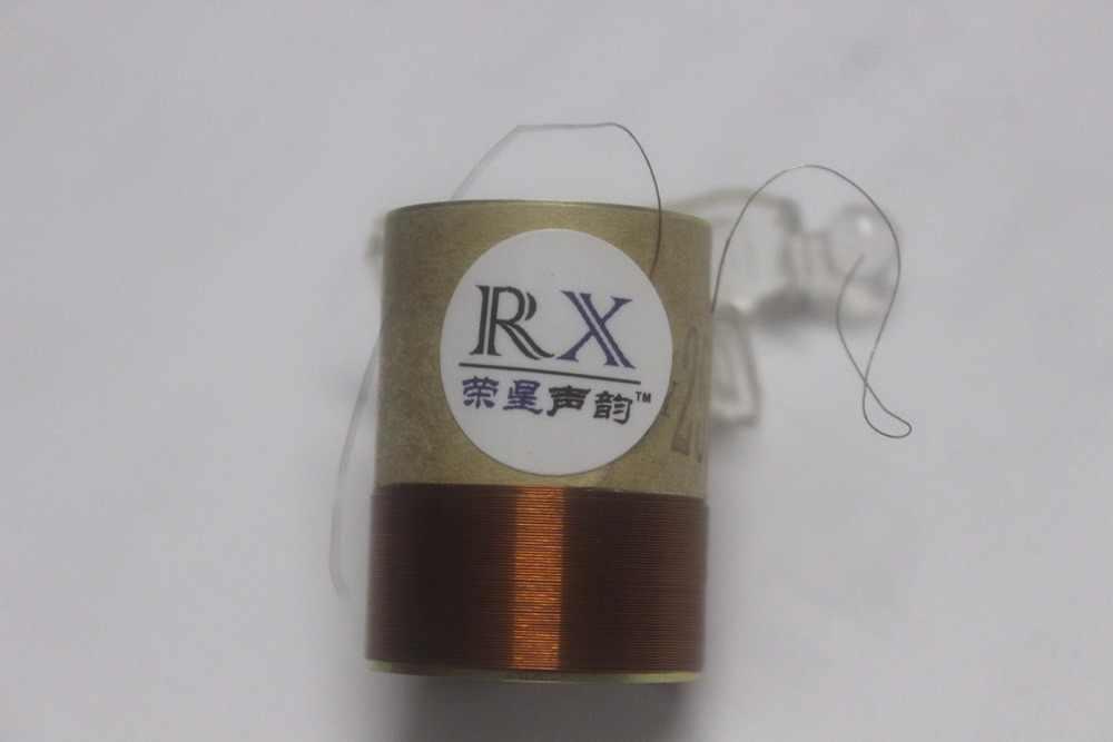 """1 sztuka ID: 25.5mm 1 """"2 warstwy okrągły drut miedziany uzwojenia biały glinowy 8 ohm głośnik niskotonowy głośnik basowy głośnik cewka drgająca"""