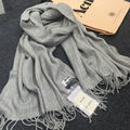 2016 winter style fashion famous brand warm women lady Scarves luxury Pashmina classic Fringed scarf for women pink red grey
