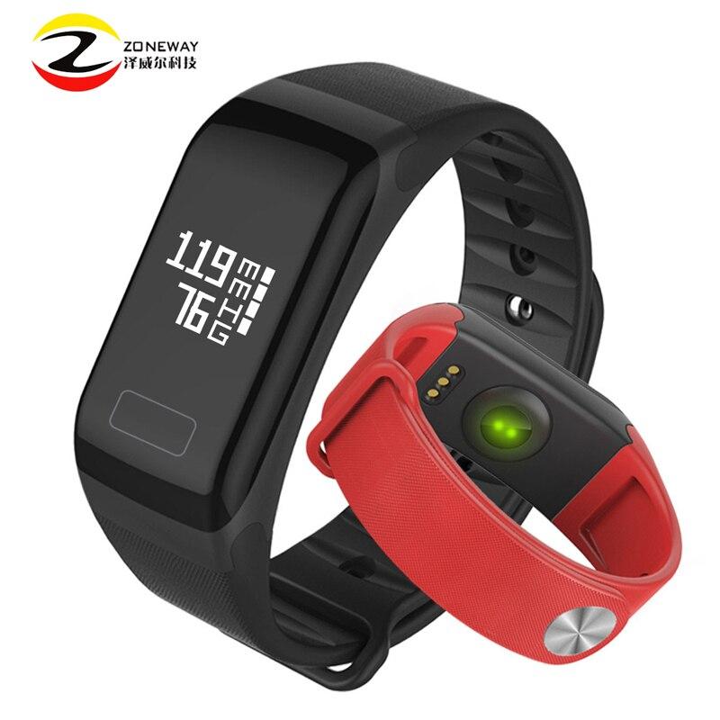 imágenes para Impermeable Material de Silicona Pulseras Deportes F1 Inteligente Pulsera Smartband Con Llamadas de Teléfono Móvil Monitor de Ritmo Cardíaco