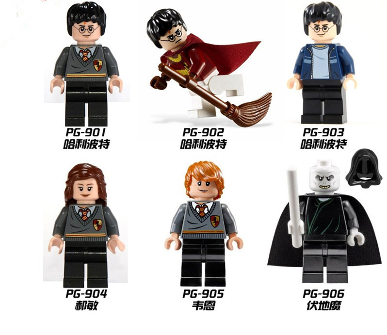 60pcs PG8010 Baby toys Hermione Granger Fantasy Literature Building Block Toy Compaible with