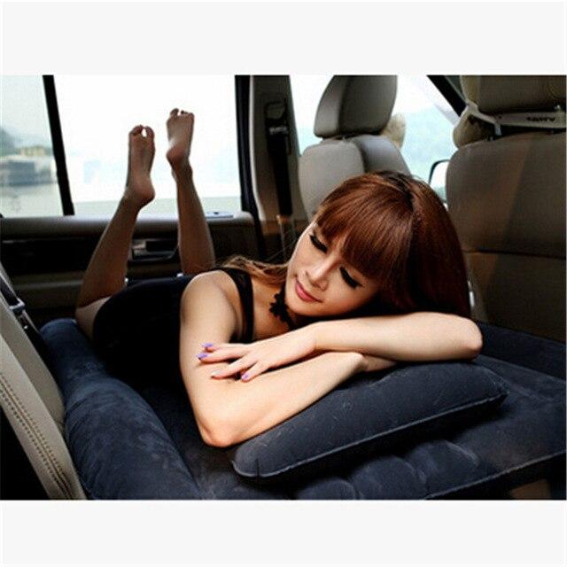 2018 SUV matelas gonflable voyage Camping voiture siège arrière sommeil repos matelas avec pompe à Air voiture sexe lit voiture accessoires