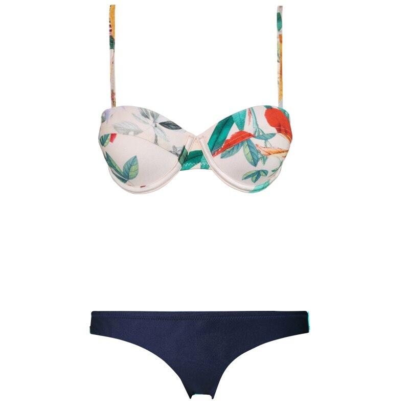 2018 two-piece suits swimwear women Rim gathers sexy swimsuit print bodysuit crochet bandage wear beach Resort bathing suit new sweet spaghetti strap swan print two piece swimsuit for women