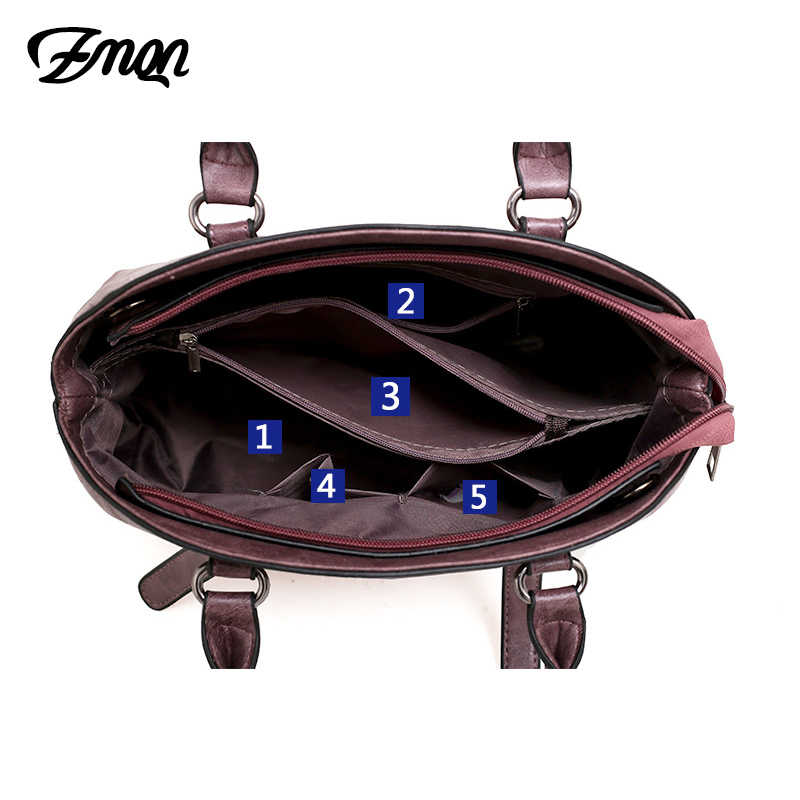108d5769c55e ... ZMQN Handbags Women Hand Bag 3 Sets 2018 Vintage Combination Crossbody  Bag for Women PU Leather