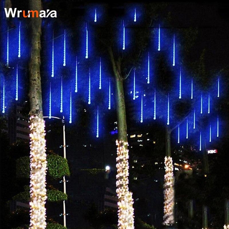 Wrumava 30CM 50CM Meteor Shower Rain Tubes AC100-240V LED Christmas Lights Wedding Party Garden Xmas String Light Outdoor