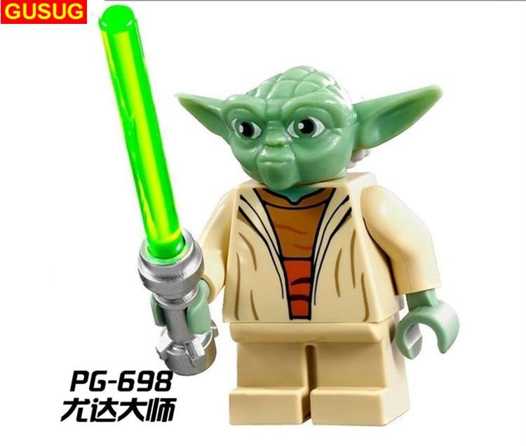 GUSUG 100PCS PG698 Yoda with Lightsaber Building Blocks Bricks Gifts Action Baby Toys